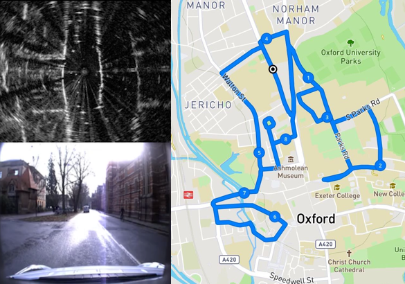 Loop-closure-detection, example on Oxford New City Dataset